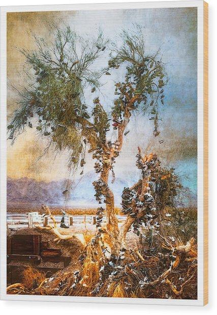 Amboy Shoe Tree Wood Print