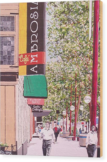 Ambrosia At Eleventh And K Wood Print by Paul Guyer
