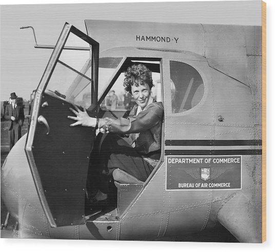 Amelia Earhart - 1936 Wood Print