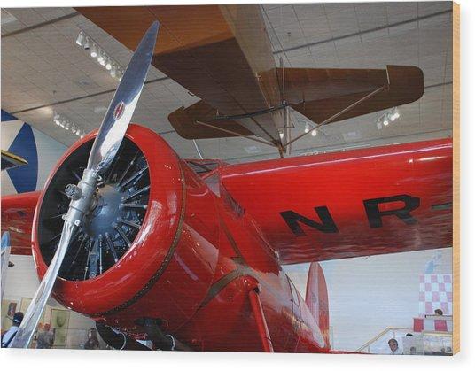 Amelia Earhart Prop Plane Wood Print