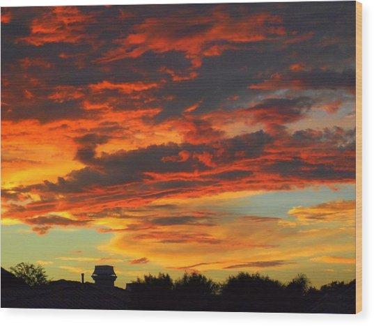 Amelia Sunsets 23 Wood Print