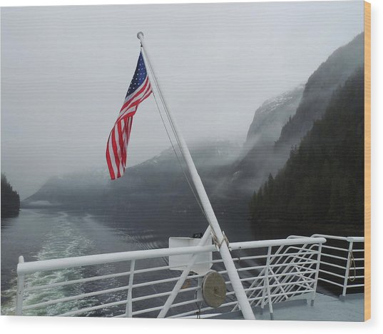 America The Beautiful Wood Print
