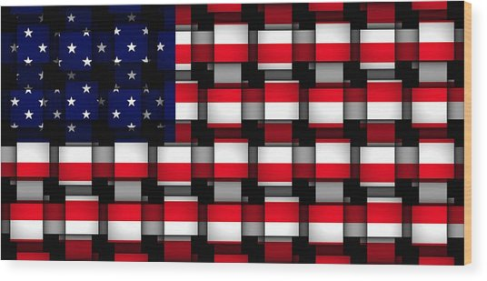 American Abstract Wood Print by L Brown