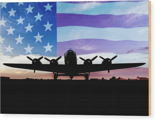 American B-17 Flying Fortress Wood Print
