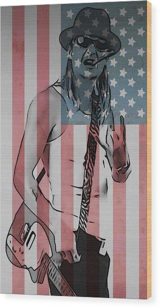 American Badass Wood Print