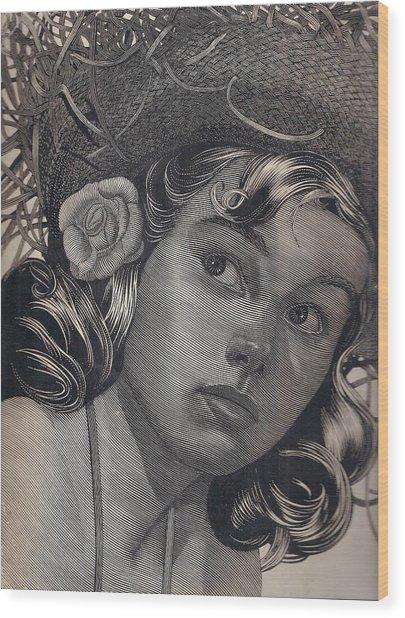 American Beauty Wood Print