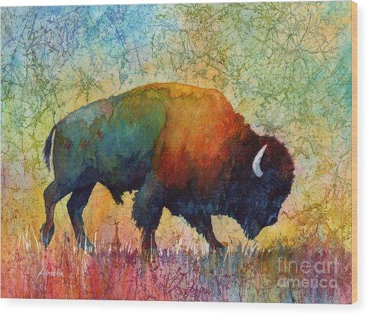 American Buffalo 4 Wood Print