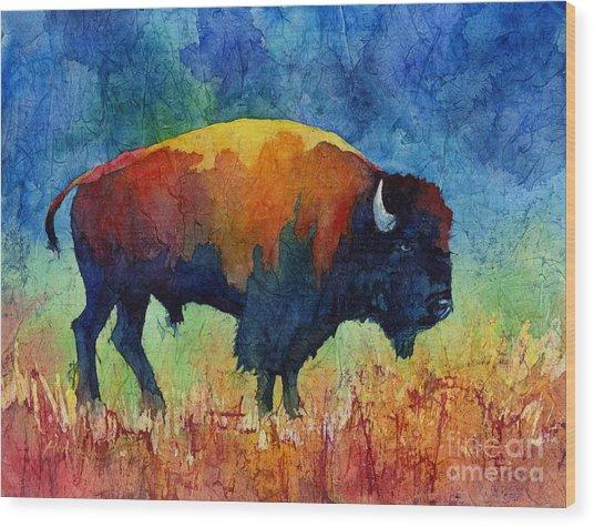 American Buffalo II Wood Print