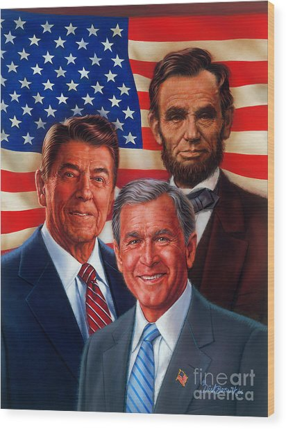 American Courage Wood Print