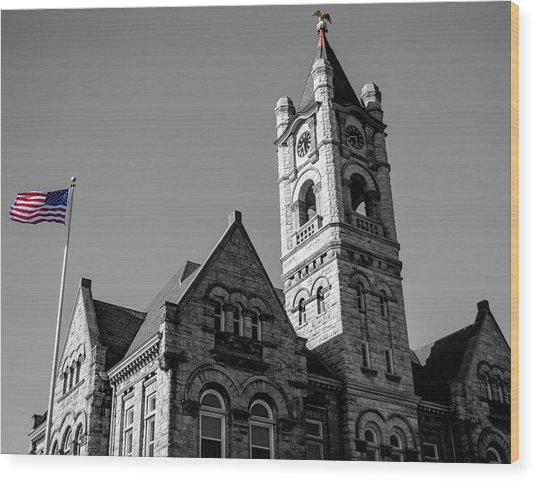 American Courthouse Wood Print