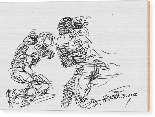 American Football 1 Wood Print