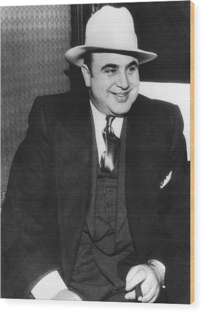 American Gangster Al Capone Wood Print
