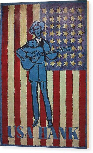 American Hero - Hank Williams Wood Print
