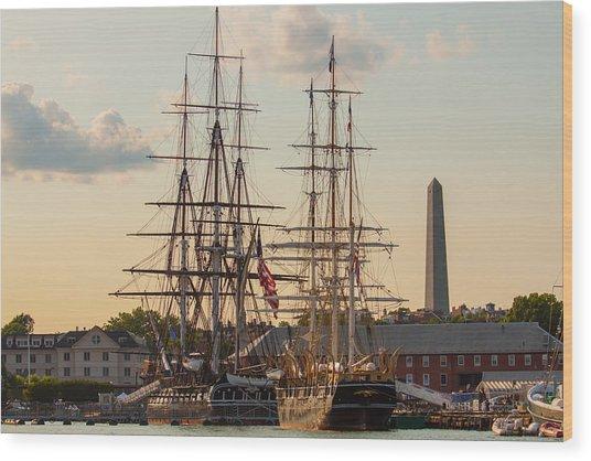 American History Wood Print
