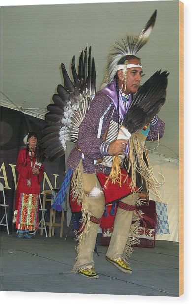 American Indian Dance Wood Print by Bill Marder