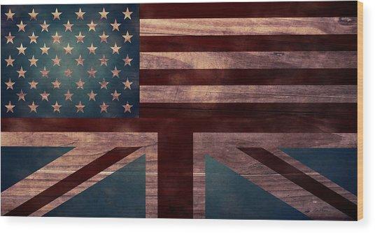 American Jack I Wood Print