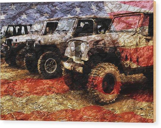 American Jeeps Wood Print