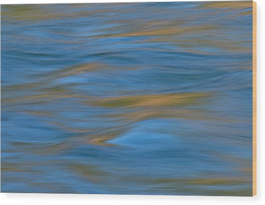 Wood Print featuring the photograph American River Abstract by Sherri Meyer