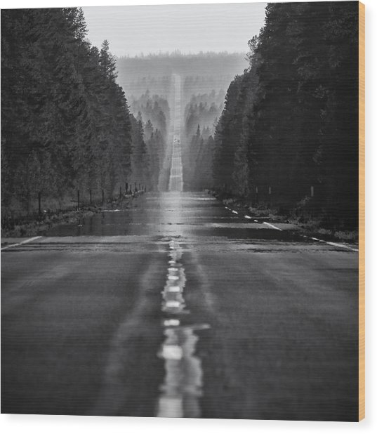 American Road Trip Wood Print