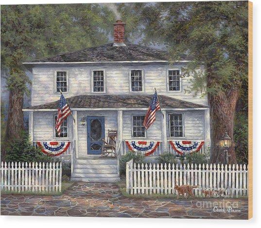 American Roots Wood Print