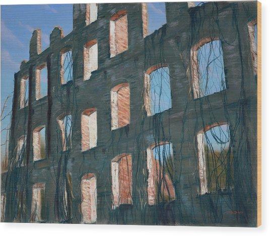 American Ruins Wood Print