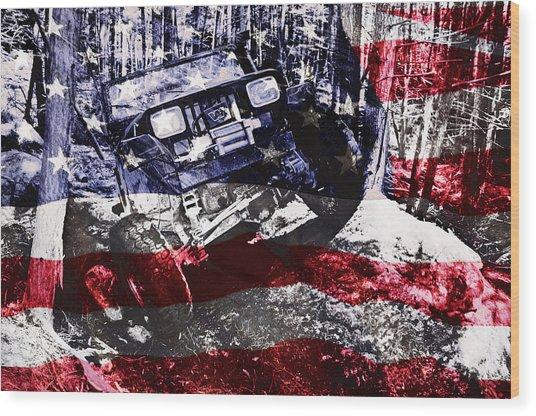 American Wrangler Wood Print
