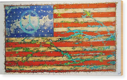 Americana Wood Print by Emil Bodourov