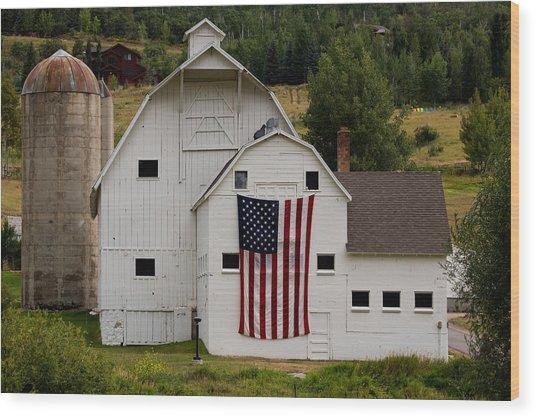 Americana Wood Print