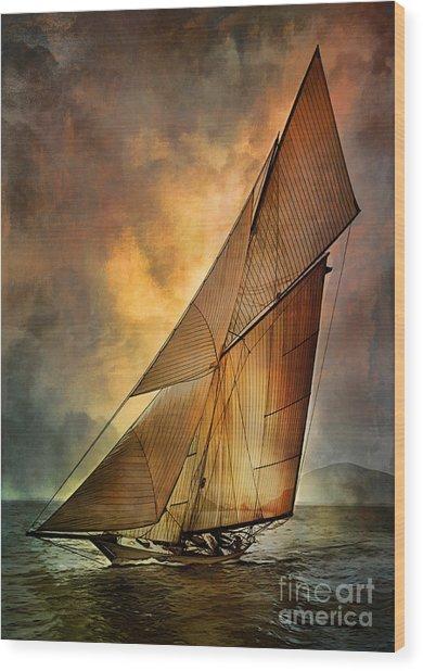 America's Cup  Wood Print