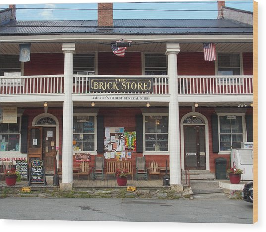 America's Oldest General Store Wood Print