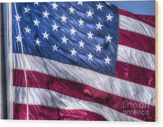 America's Stars And Strips Wood Print