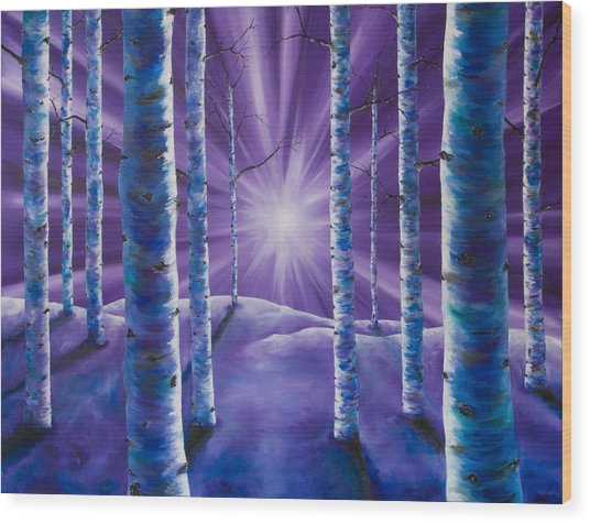 Amethyst Winter Wood Print