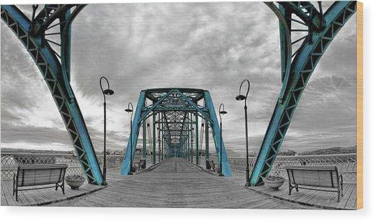 Amid The Bridge Wood Print