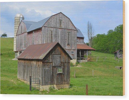 Amish Barn #2 - Woodward Pa Wood Print