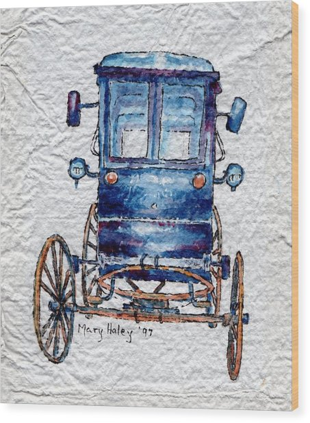 Amish Cart Wood Print