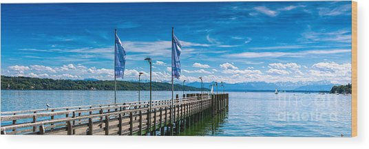 Ammersee - Lake In Bavaria Wood Print