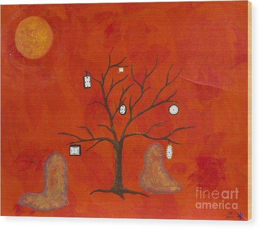 Amoeba Wood Print