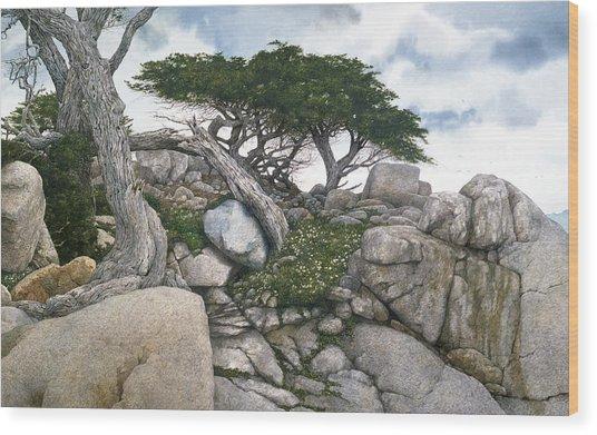 Among The Cypress Wood Print