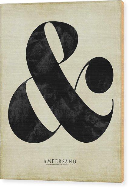 Ampersand Cream Wood Print