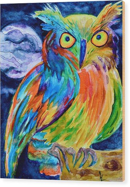 Ampersand Owl Wood Print