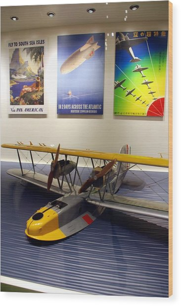 Amphibious Plane And Era Posters Wood Print