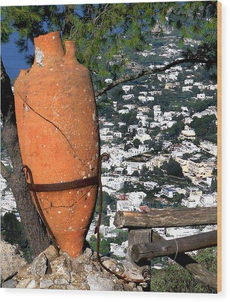 Amphora On Island Of Capri 1 Wood Print