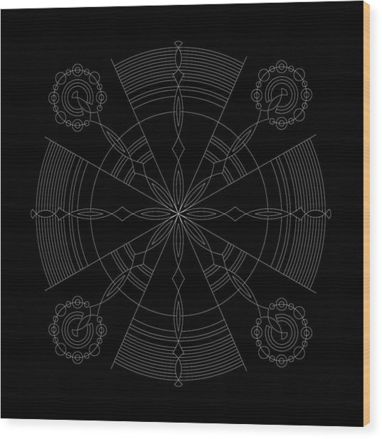 Amplitude Inverse Wood Print