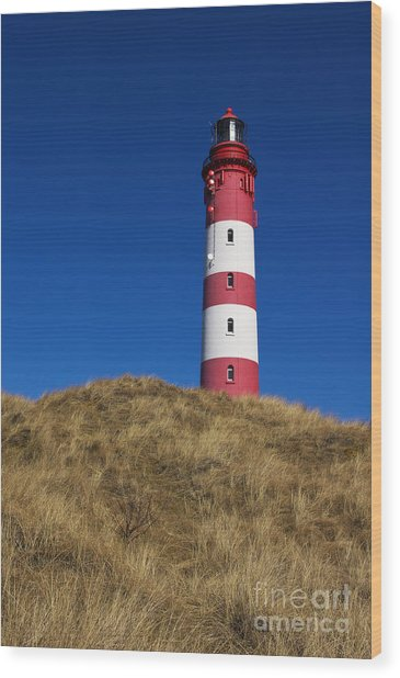 Amrum Lighthouse Wood Print
