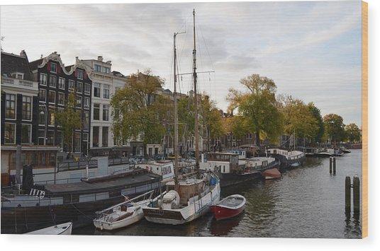 Amstel River Wood Print