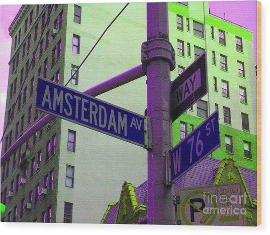 Amsterdam Avenue Wood Print