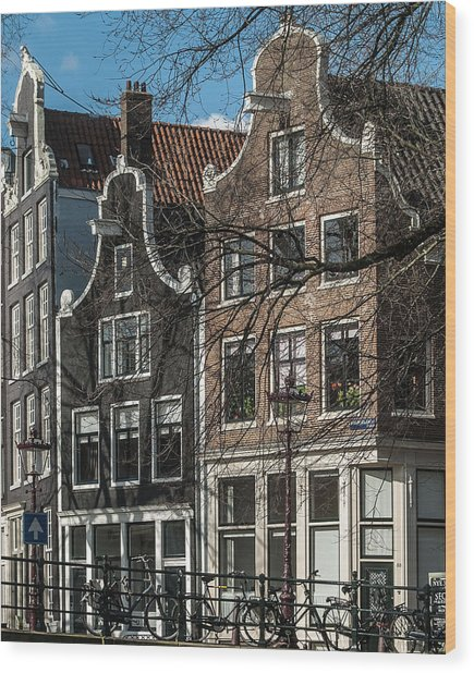 Amsterdam Canal Houses #1 Wood Print
