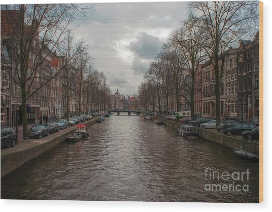 Amsterdam Canals Wood Print
