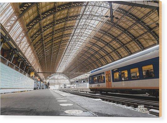 Amsterdam Centraal Railway Station Wood Print