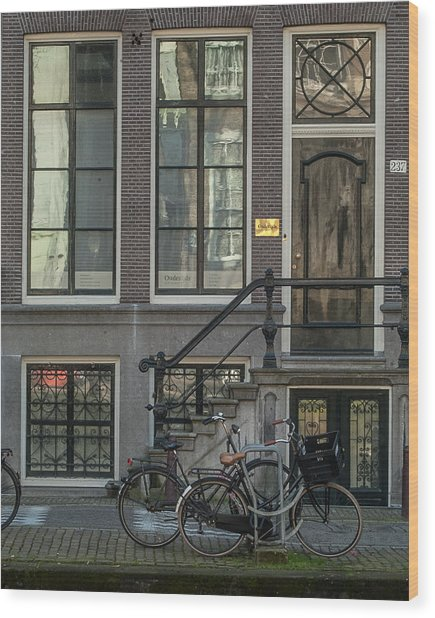 Amsterdam Facade #1 Wood Print